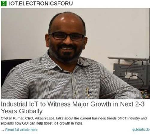 Industrial IoT to Witness Major Growth in Next 2-3 Years