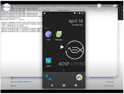 How to access & Control android screens over Internet?